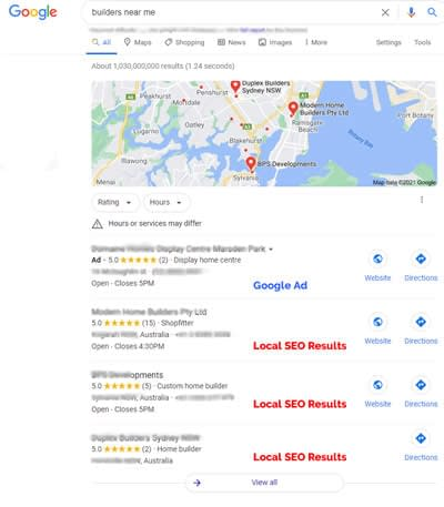 Local SEO Services - Google search listing